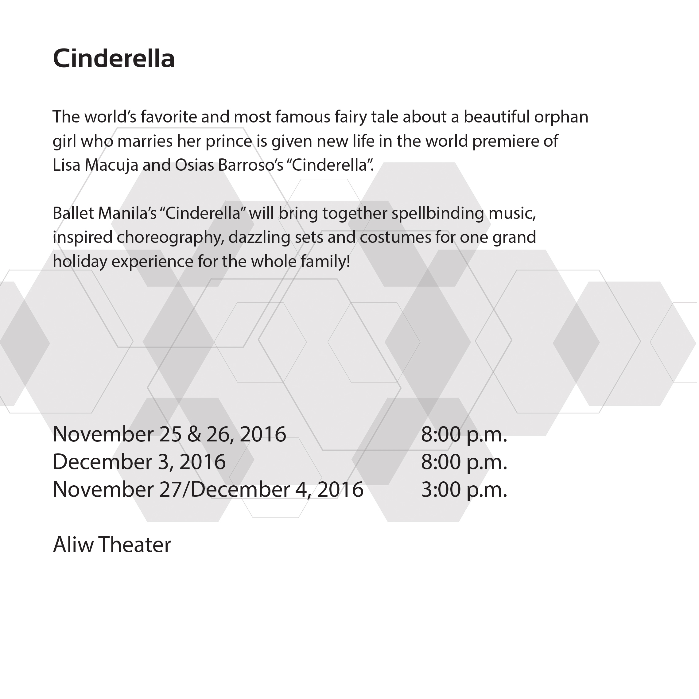 CINDERELLA-DESCRIPTION
