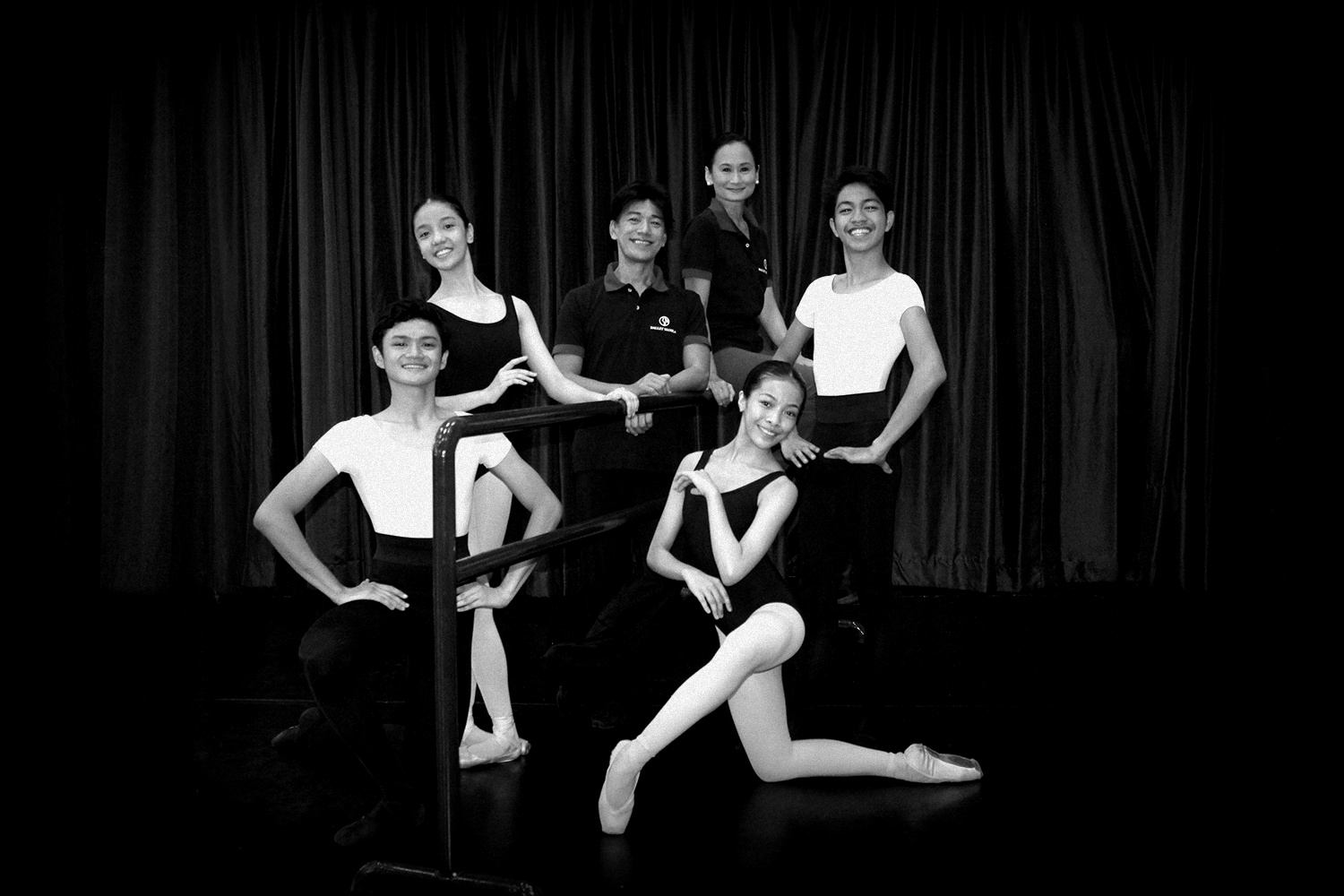 Joshua Enciso, Marinette Franco, Nicole Barroso and Alvin Dictado have been chosen to represent Ballet Manila in the 2016 Beijing Dance Performance Series for Dance Schools. Their mentors, Lisa Macuja-Elizalde and Osias Barroso, agree these kids embody talent, potential and good work ethic. Photo by Jimmy Villanueva