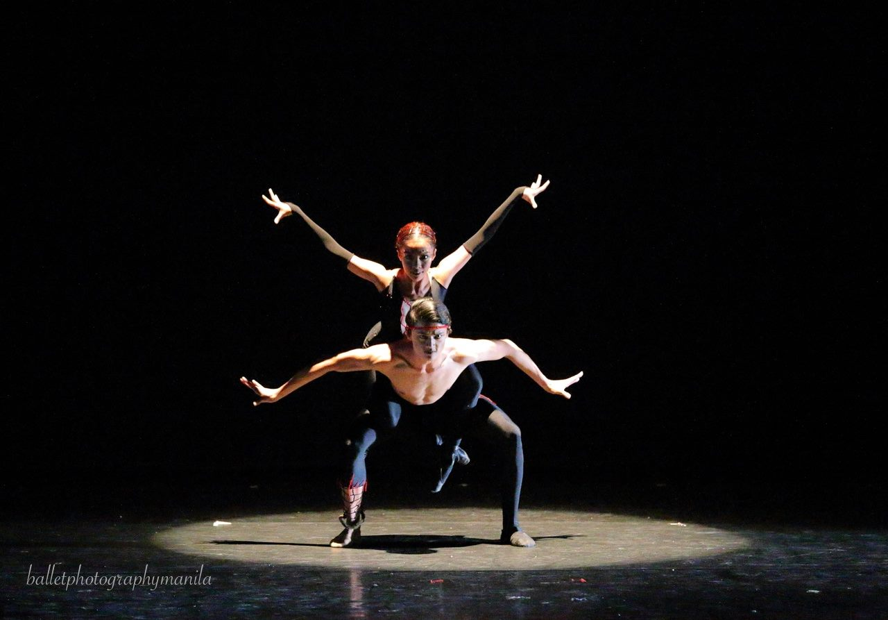 Joshua and Nicole's self-assured performance of Agnes Locsin's Arachnida at Ballet Manila's World Dance Day showcase was a show-stopper. Photo by Konrad Ong