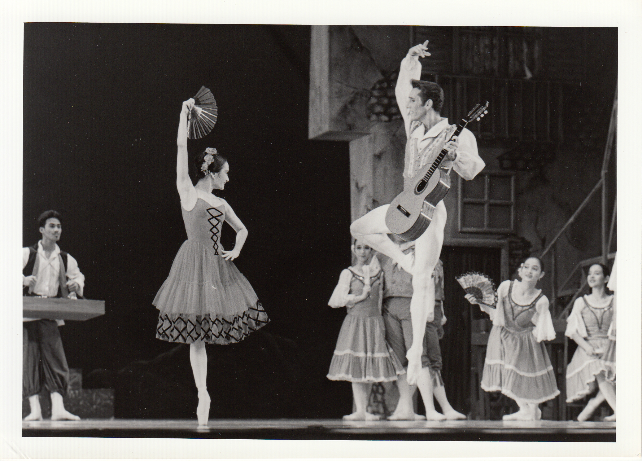 Don Quixote is marked by spirited dancing. Lisa Macuja as Kitri is partnered by American Ballet Theater's Parrish Maynard as Basilio in this 1993 production.